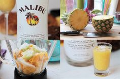 #Smoothie alcoolisé #ananas et #coconut Cocktails, Drinks, Caribbean Rum, Malibu, Smoothies, Coconut, Favorite Recipes, Cooking, Gift Suggestions