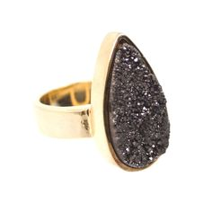 Add this beautiful stardust quartz ring to your outfit for a edgy look.