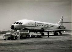 Caravela, Portela (Esp. Cte. Amado da Cunha, 1968) Sud Aviation, Lisbon Airport, Concorde, Portugal, Aircraft, Black And White, Jets, Airplane, Planes