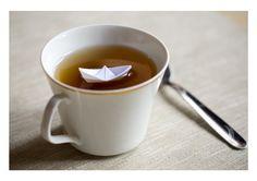 paper boat on tea :)
