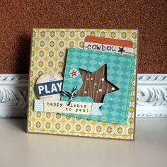 Melanie Blackburn--just love the fun layers of this card!