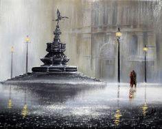 the-power-of-love / Jeff Rowland Pop Art Studio, Rain Photo, English Artists, The Power Of Love, Vincent Van Gogh, Art Techniques, Amazing Art, Watercolor Art, Fountain