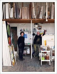 studio of Iain Robertson and with his wife Clare Wardman.