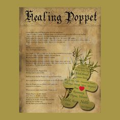 HEALING POPPET with PATTERN , Digital Download, Book of Shadows Page,Grimoire, Wicca, Pagan, Witchcraft, White Magick, Magick Spell by MorganaMagickSpell on Etsy