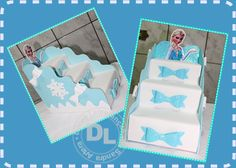 Olha que trabalho legal para decorar mesa de festa tema Frozen,   foi feito pela Sandra Nunes que fez ovídeoabaixo ensinando       ...