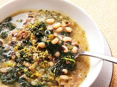 Easy Sausage, Kale, and Black Eyed Pea Soup With Lemon and Rosemary