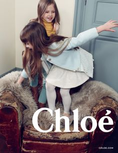 Soft shades of sky blue anchored with warm mustard yellow – introducing the Chloé Fall-Winter 2014 childrenswear collection