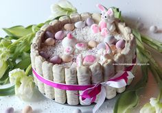 ! Miss von Xtravaganz ! Lifestyle- & Beautyblog !: [Rezept] Osterbloggerei: Häschen Törtchen für Ostern (Kokos-Buttermilch mit weißer Schokolade)