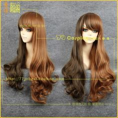 [77joker] Long gyaru multi-brown split wig