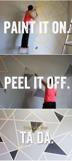 Personal and graphic walls - 20 Incredible Paint Wall Decoration Ideas