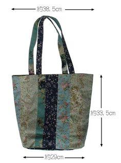 綿麻キャンバス地トートバッグ赤ペイズリー | iichi(いいち)| ハンドメイド・クラフト・手仕事品の販売・購入