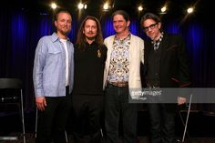 Musicians Alex Orbison, Roy Orbison Jr., Wesley Orbison with Vice President of the GRAMMY Foundation Scott Goldman at Reel to Reel: Mystery Girl Unraveled at The GRAMMY Museum on May 20, 2014 in Los Angeles, California.