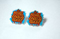 Items similar to A Tribe Called Quest Stud Earrings on Etsy A Tribe Called Quest, Musical, Objects, Stud Earrings, Jewels, My Style, Unique Jewelry, Handmade Gifts, Etsy