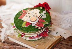 "Hand made by Evgenia K.: Мини альбом ""Christmas toy""  и мастер класс / Mini..."