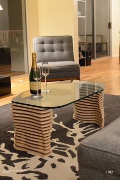 SkipDivided Coffee Table V10 by MizStudio on Etsy, $850.00