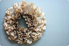 Nice paper wreath idea