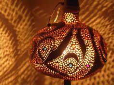 100% HANDMADE Gourd lampKürbislampe handcrafted by JUNIORCITY