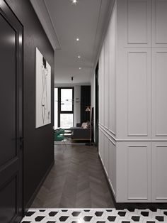 m on Behance Luxury Interior Design, Interior Design Living Room, Interior Architecture, Ceiling Design, Wall Design, House Design, Chic Minimalista, Neutral Bedroom Decor, Neoclassical Interior