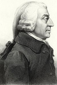 "Adam Smith. ""It is not from the benevolence of the butcher, the brewer, or the baker that we expect our dinner, but from their regard to their own interest."""