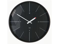 Modern, edel in schwarz, filigrane Minutenstriche, auffallende Zeiger - das ist dieFunkwanduhr Ondo von Sigel Artetempus.