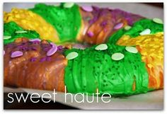Mardi Gras Creme King Cake {SWEET} recipe 