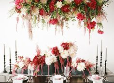 Floral arrangements wedding centerpieces red hanging floral centerpiece for garden wedding inspiration floral arrangements for weddings Hanging Lanterns Wedding, Hanging Centerpiece, Floral Centerpieces, Wedding Centerpieces, Floral Arrangements, Wedding Decorations, Centerpiece Ideas, Floating Flowers, Hanging Flowers