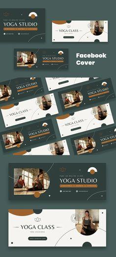 Yoga Facebook Cover Template AI, PSD Facebook Cover Template, Vinyasa Yoga, Templates, Stencils, Vorlage, Models