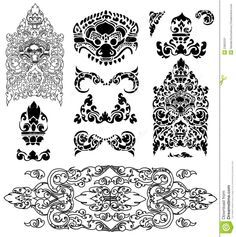 Cambodian Floral Pattern - Download From Over 41 Million High Quality Stock Photos, Images, Vectors. Sign up for FREE today. Image: 23802231