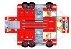 3D Paper Firetruck