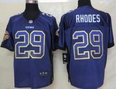 Nike Minnesota Vikings #29 Xavier Rhodes 2013 Drift Fashion Purple Elite Jersey
