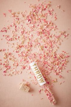Pink Eco-Friendly Floral Confetti | BHLDN