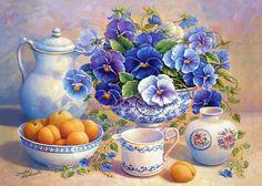Artistul Trisha Hardwick. Flori - fructe naturi statice .. Discuție pe LiveInternet - Serviciul Rusă Online Zilnice