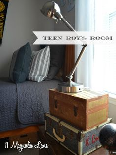 teen boys room gray