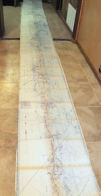 Large RAILROAD Right of Way & Track MAP Missouri Kansas Texas 1918 - 1973 288""