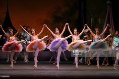 American Ballet Theater performing 'The Sleeping Beauty' at the Metropolitan Opera House on Wednesday night, June 6, 2007.This image;The Lilac Fairy played by Stella Abrera, third from left, with other fairies.