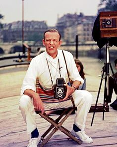Fred Astaire with Vintage Rolleiflex Automat 3.5 TLR Camera