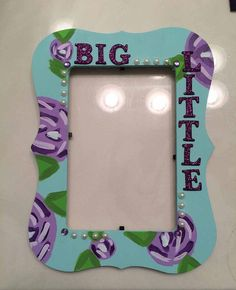 Big Little Picture Frame by SororityBigLilCrafts on Etsy