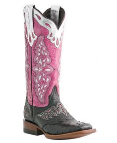 Lucchese Boots -  Sweetwater Full Quill Ostrich Cowgirl Boots - Square Toe
