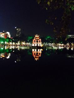 Turtle Tower in Hanoi Lake