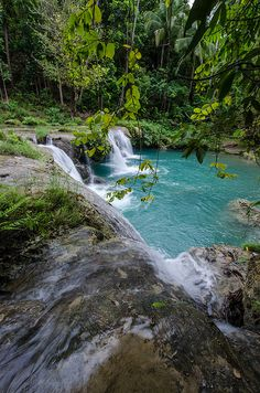 Cambugahay Falls in Siquijor Island, Philippines