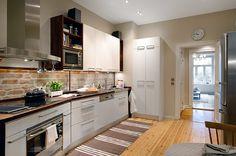 cozinhas com tijolos aparentes - Pesquisa Google