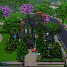 Sims 4 House Design, Sims Building, Sims 4 Build, Sims 4 Houses, Sims 1, Maxis, Plans, Victorian, Mansions