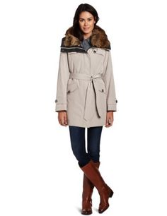 Hilary Radley Women's Belted Anorak With Button Out Warmer And Faux Fur Collar Hilary Radley. $84.74. Warmer. 100% Polyester. Anorak. Made in Vietnam. Machine Wash