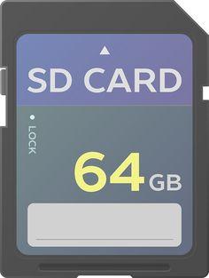SD 카드 벡터 이미지입니다.   SD card vector image