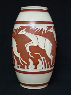 Art Deco vase by Charles Catteau for Boch Keramis.