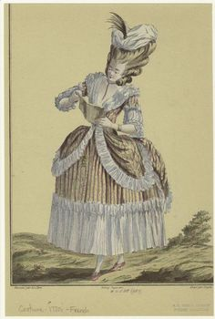 French woman reading 1770s