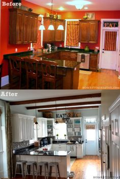 How to gradually makeover your kitchen when on a tight budget. #kitchen #makeover