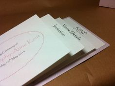 Naming ceremony cheque book invites pink girly handmade