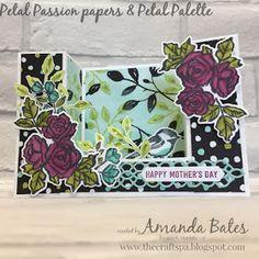 The Craft Spa - Stampin' Up! UK independent demonstrator : Petal Passion & Palette Bridge U Fold Card