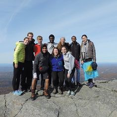 """On #NMHmountainday, seniors in """"Literature and the Environment"""" summited Mount Monadnock together."""